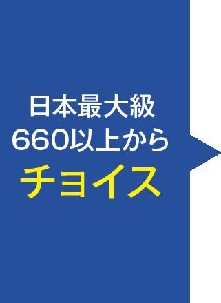 日本最大級660以上からチョイス